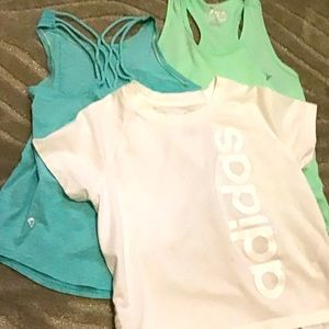 Girls brand name athletic tops size 7
